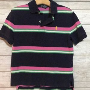 Boys striped Ralph Lauren Polo shirt - size 8
